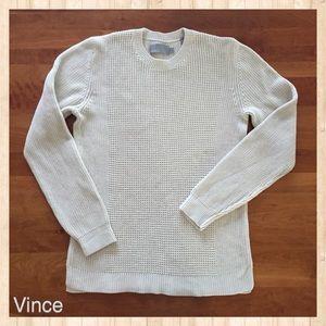 VINCE Men's Cotton Crew Neck Sweater